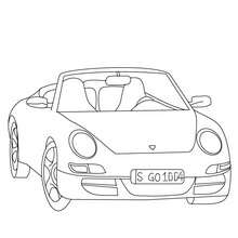 Porsche Carrera zum Ausmalen