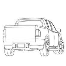 Pick-up Geländewagen zum Ausmalen