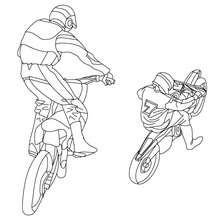 Geländemotorradfahrer zum Ausmalen