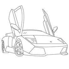 Lamborghini Murcielago zum Ausmalen