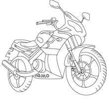 Sportmotorrad zum Ausmalen