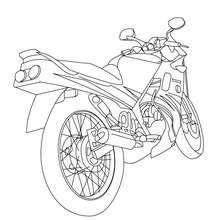 Sportmotorrad von hinten zum Ausmalen