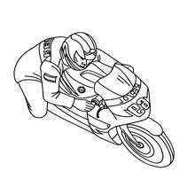Sportmotorradrennen zum Ausmalen