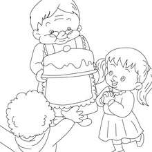 Großmutters Kuchen zum Ausmalen