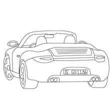 Porsche Carrera Malbogen