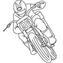Geländerennfahrer zum Ausmalen