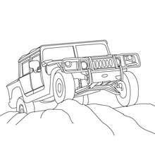 Pick-up Hummer zum Ausmalen