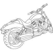 Harley Davidson zum Ausmalen