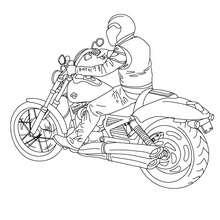 Harley Davidson Fahrer zum Ausmalen