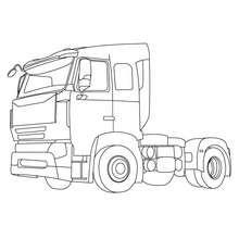 Traktoranhänger zum Ausmalen