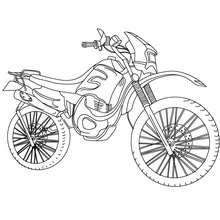 Geländemotorrad zum Ausmalen
