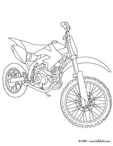 Gel ndemotorrad zum ausmalen zum ausmalen - Dessin de motocross ...