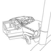 Autounfall zum Ausmalen