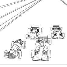 Formel 1 Rennwagen zum Ausmalen
