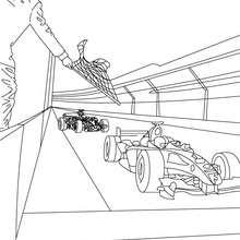 Formel 1 Rennstart zum Ausmalen