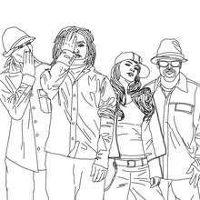 Spaß The Black Eyed Peas zum Ausmalen