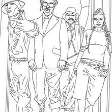 Hip hop The Black Eyed Peas zum Ausmalen