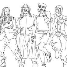 The Black Eyed Peas Malbuch