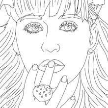Katy Perry Nahaufnahme zum Ausmalen