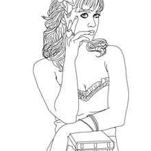Süße Katy Perry zum Ausmalen