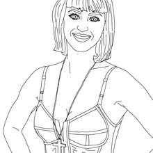 Lächelnde Katy Perry zum Ausmalen