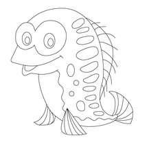 Lustiger Fisch zum Ausmalen
