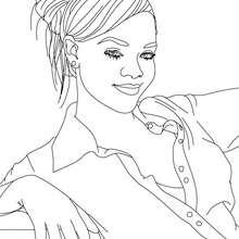 Schöne Rihanna zum Ausmalen