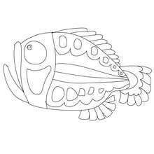 Gruseliger Fisch zum Ausmalen