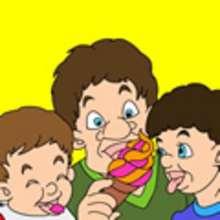 PAPA mit Kindern Schiebepuzzle
