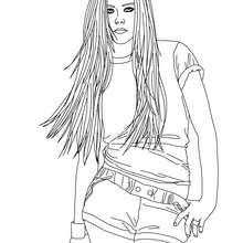 Avril Lavigne zum Ausmalen
