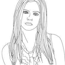 Avril Lavigne Portrait zum Ausmalen