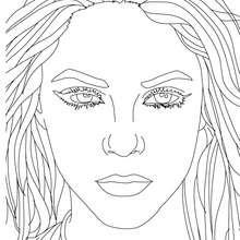 Shakira Portrait zum Ausmalen