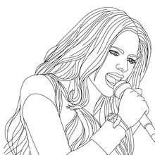 Avril Lavigne singt zum Ausmalen