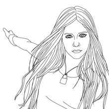 Süße Avril Lavigne zum Ausmalen