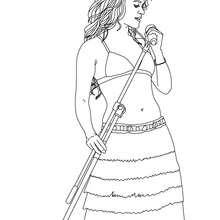 Shakira singt zum Ausmalen
