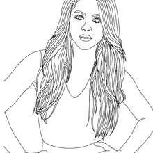 Schöne Shakira zum Ausmalen
