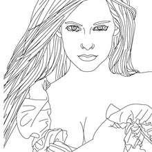 Schöne Avril Lavigne zum Ausmalen