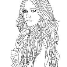 Avril Lavigne Modedesignerin zum Ausmalen