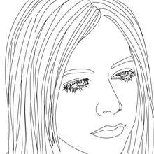 Avril Lavigne Malbogen