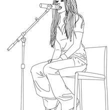 Avril Lavigne singer coloring page