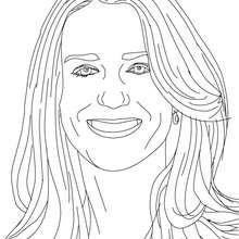 Lächelnde Kate Middleton zum Ausmalen