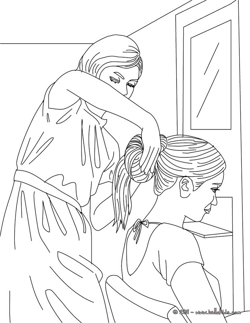 printable beauty salon coloring pages - photo#3