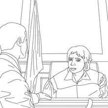 Anwalt und Richter zum Ausmalen