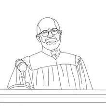 Richter hört den Anwalt an zum Ausmalen
