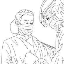 Chirurg zum Ausmalen