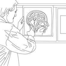 Radiologe zum Ausmalen