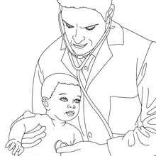 Kinderarzt zum Ausmalen