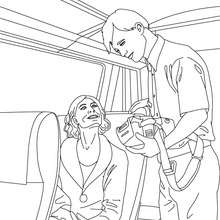 Train inspector coloring page