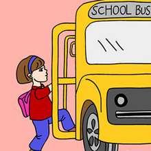 Schulbus Schiebepuzzle