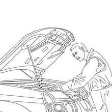 Mechaniker zum Ausmalen